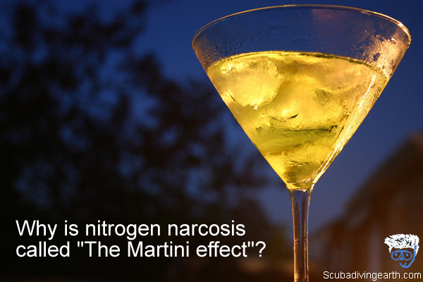 Why is nitrogen narcosis called The Martini effect