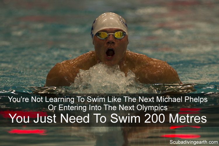 You are not learning to swim like the next Michael Phelps